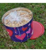 Valentine's Day Old Fashioned Caramel Popcorn 2-Gallon Tin (No Nuts)